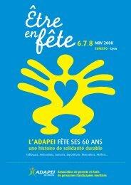 Dossier de presse - (ADAPEI) Rhône