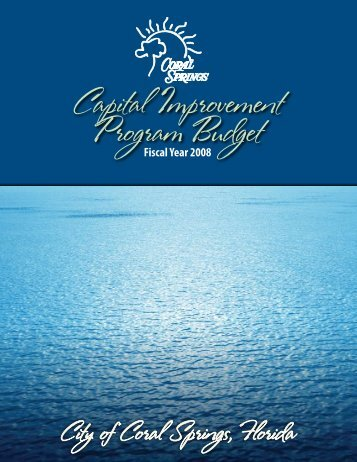 Fiscal Year 2008 Capital Improvement Program Budget - Anthony ...