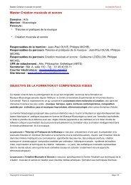 Master Danse - Université Paris 8