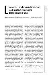 es rapports producteurs-distributeurs - Université Toulouse 1 Capitole