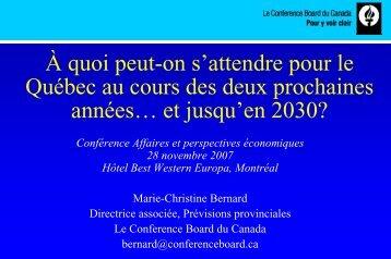Présentation de Marie-Christine Bernard - Association des ...