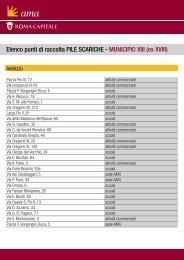 Elenco punti di raccolta PILE SCARICHE - MUNICIPIO XIII (ex ... - Ama