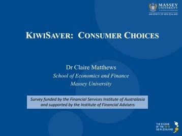 KIWISAVER: CONSUMER CHOICES - Nest