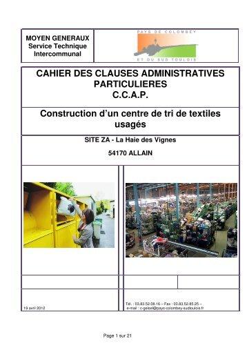 CCAP - Communauté de communes du Pays de Colombey Sud ...