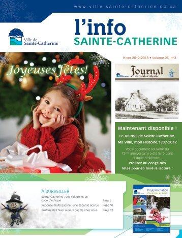 Info hiver 2013 - Ville de Sainte-Catherine