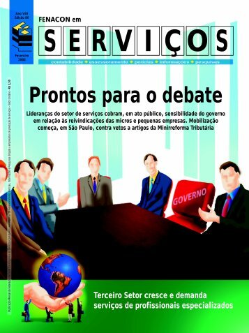 SERVIÇOS Prontos para o debate - Fenacon