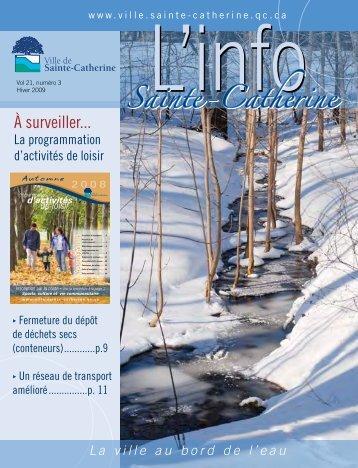 Info hiver 2009 - Ville de Sainte-Catherine