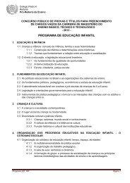 educação infantil - Colégio Pedro II
