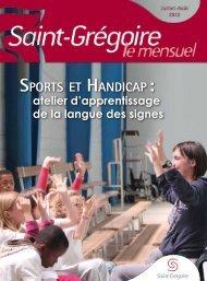 Saint-Grégoire, le Mensuel Juillet Aout 2012