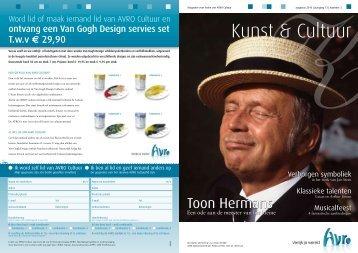 Ledenmagazine Kunst & Cultuur aug. 2010. - Hetbeteretekstwerk.nl