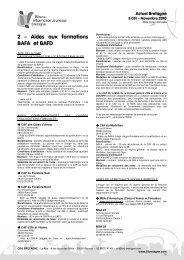 2 - Aides aux formations BAFA et BAFD - Ubapar