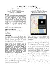 Mobile HCI and Hospitality - The Media Computing Group - RWTH ...
