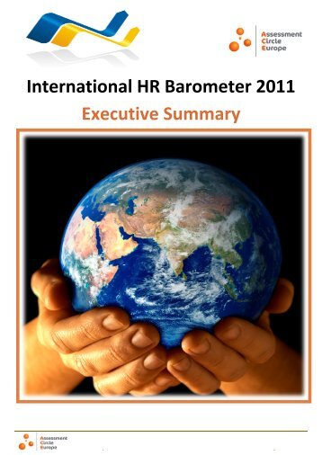 International HR Barometer 2011 Executive Summary