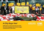 'Save Me – A City Says Yes' campaign - Pro Asyl