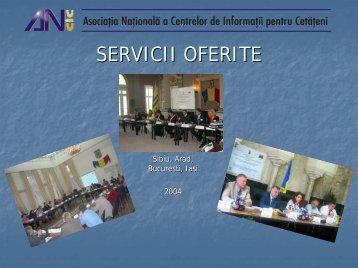 Servicii oferite de ANCIC