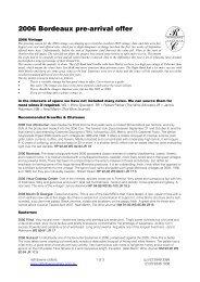 2006 Bordeaux pre-arrival offer - Rathdowne Cellars