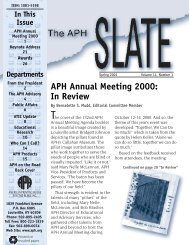 APH Annual Meeting 2000 - American Printing House for the Blind