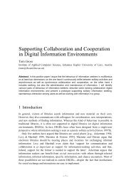 Supporting Collaboration and Cooperation in Digital ... - CiteSeer