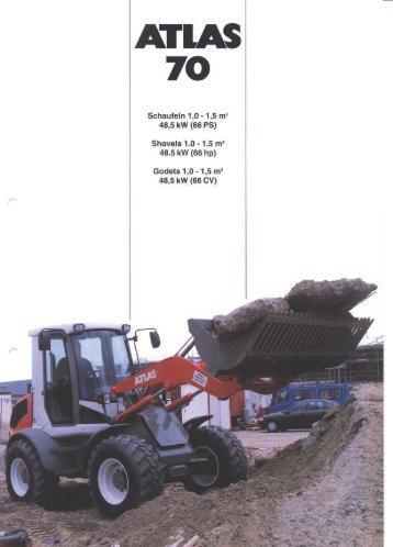 Technische Daten Prospekt AR 70 66 PS - ATLAS Hydraulikbagger