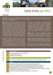 Lettre d'info juin 2011 - Relier