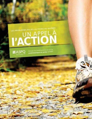 Un appel à l'action - Association pour la santé publique du Québec