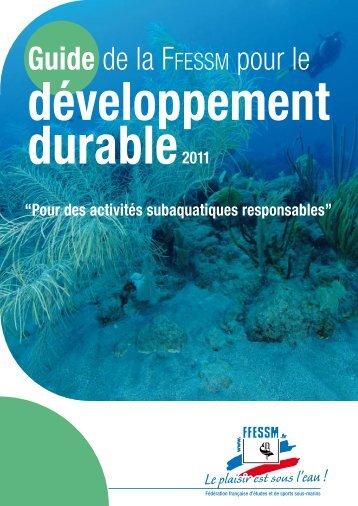 Guide du Développement Durable FFESSM - Commission nationale ...