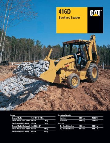 Specalog for 416D Backhoe Loader, AEHQ5576-01 - Meco Miami