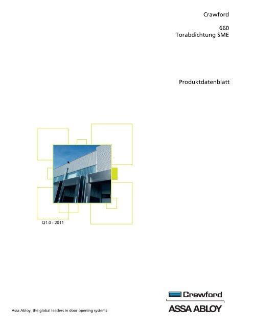 Crawford 660 Torabdichtung SME Produktdatenblatt - Crawford hafa ...