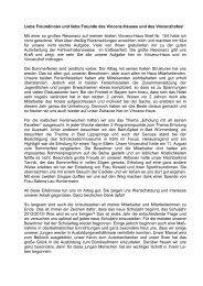 Vincenz-Haus Brief Nr. 105 - Jugendwohngemeinschaft Vincenz-Haus