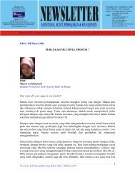 Edisi : III/Maret 2011 PERLUKAH MULTIPLE PROFESI ? Oleh ...