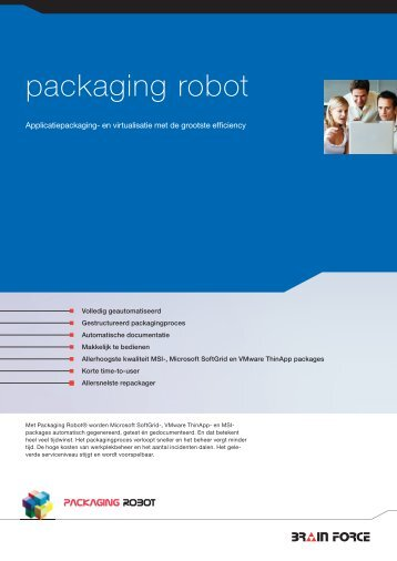 Algemene product informatie - Packaging Robot, software solution ...