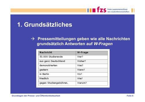 Grundlagen der Presse- und Öffentlichkeitsarbeit - Kein Seximus an ...