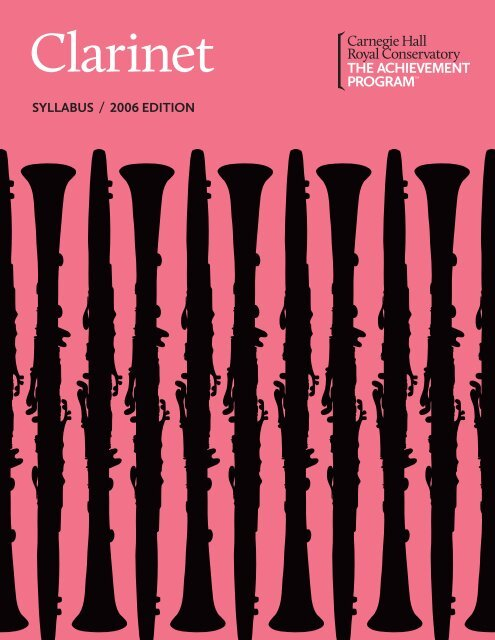 Clarinet Syllabus TAP - The Achievement Program