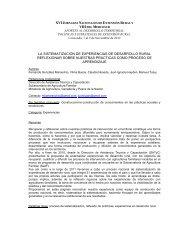 XVI J VIII LA SISTEMATIZACIÓN DE EXPERIENCIAS ... - aader.org.ar
