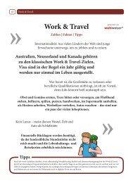 Rubrik Work and Travel - Stubenhocker - Die Zeitung für ...