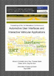 Proceedings - Automotive User Interfaces and Interactive Vehicular ...