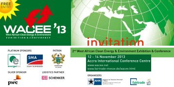 12 - 14 November 2013 Accra International Conference Centre