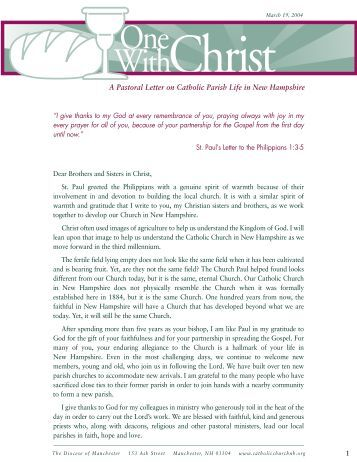 A Pastoral Letter on Catholic Parish Life in New Hampshire