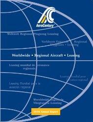 Worldwide ! Regional Aircraft ! Leasing - AeroCentury Corp.