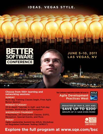 Better Software Conference - SQE.com
