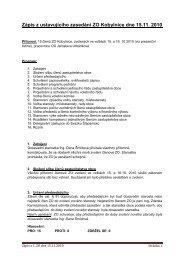 zápis z ustavujícího zasedáni obce Kobylnice dne 15.11.2010