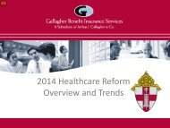 2014 Healthcare Reform Overview and Trends - Diocese of ...