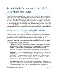 Transit Goals, Objectives, Standards & Performance Measures