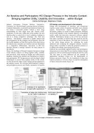 An Iterative and Participatory HCI Design Process in the ... - IntuiLab