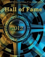 Hall of Fame 2012 Program - College Station ISD Education ...