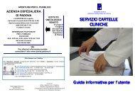 Guida alla Cartella Clinica - Azienda Ospedaliera di Padova