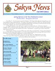 Sakya Newsletter: Fall 2005 - the Sakya Monastery of Tibetan ...