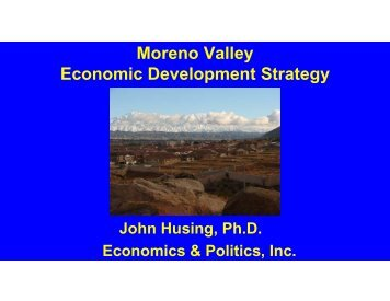 Moreno Valley Economic Development Strategy