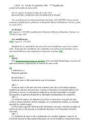 LEGE Nr. 119 din 16 octombrie 1996 *** Republicată cu privire la ...