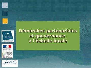 Démarches partenariales et gouvernance à l'échelle locale - ARPE